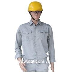 Quần áo bảo hộ lao động - kaki ánh xanh