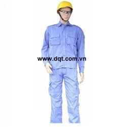 Quần áo bảo hộ lao động - túi hộp - màu xanh