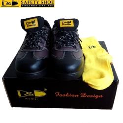 Giày bảo hộ lao động D&D nâu đỏ