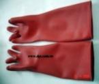 Găng tay chống Axit màu đỏ