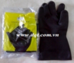 Găng tay chống hóa chất Malaysia màu đen