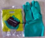 Găng tay chống hóa chất Malaysia màu xanh