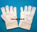 Găng tay vải bạt trắng