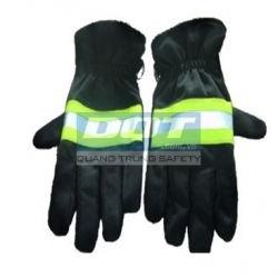 Găng tay chịu nhiệt vải Nomex - Có lớp da chống cắt
