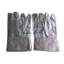 Găng tay chống nóng - Vải Amiang - Tráng bạc