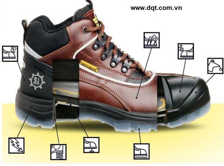 Giày bảo hộ đế sắt mũi sắt cao cổ Jooger - Bỉ