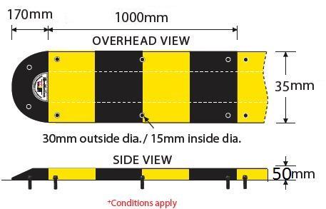 Đầu mút gờ giảm tốc - GT-35x17x5cm.